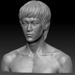 bruce bust1.jpg Télécharger fichier STL Bruce Lee • Design à imprimer en 3D, cw50p