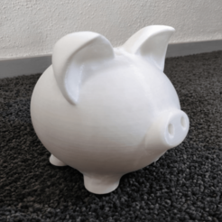 Download free STL file Piggybank PIG money-box • 3D printable object, DEJONG-design