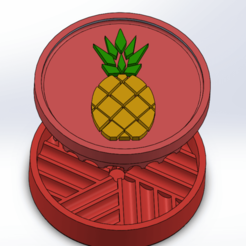 Screenshot (52).png Download STL file pineapple grinder • 3D printing object, ELDI-3D