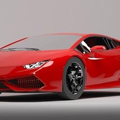 01.jpg Télécharger fichier OBJ Lamborghini Huracan • Objet imprimable en 3D, Klauspnd