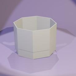 Pot1.jpg Download STL file Octagonal Plant Pot Collection (10pcs) • 3D printer design, NJii