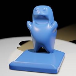 Phone_holder.jpg Télécharger fichier STL Créature porteuse de téléphone • Design pour impression 3D, NJii