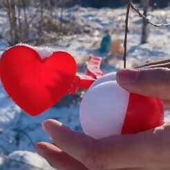 heart shape2.jpg Download STL file Snow and Sand Heart shaper • 3D printer template, LaProto