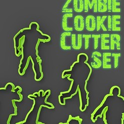 Zombie cut2.jpg Download STL file Brains!!! Zombie cookie cutter set • 3D printing object, LaProto