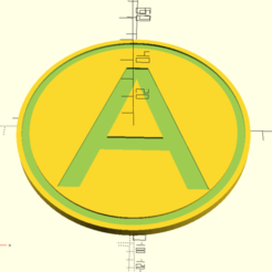 A_coaster_1.png Download free SCAD file A coaster • 3D print template, hsiehty