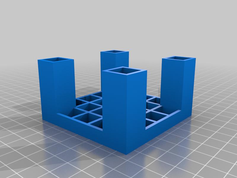 A_square_holder_table.png Télécharger fichier SCAD gratuit Une table à support carré • Design pour impression 3D, hsiehty