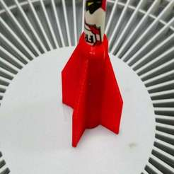 DSC_4607.JPG Download free SCAD file Customizable rocket pencil top • Model to 3D print, hsiehty