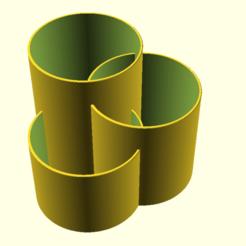 a_apint_brush_cleaner.png Télécharger fichier SCAD gratuit Un nettoyeur de pinceaux • Plan pour impression 3D, hsiehty
