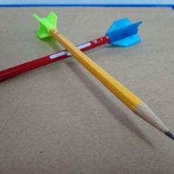 DSC_2517.JPG Download free STL file Rocket pencil top • Template to 3D print, hsiehty