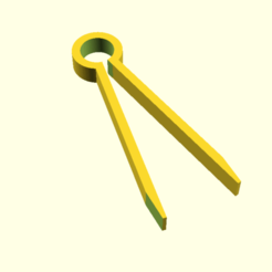 atong.png Download free SCAD file Tongs • 3D printable model, hsiehty