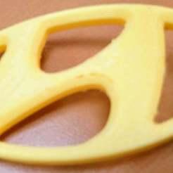 DSC_4453.JPG Télécharger fichier STL gratuit Un autre porte-clés Hyundai • Plan à imprimer en 3D, hsiehty