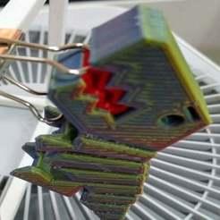DSC_4605.JPG Télécharger fichier STL gratuit Un autre porte-clés pour le Flexi Rex • Design à imprimer en 3D, hsiehty