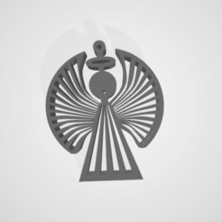 2020-11-22 (2).png Download STL file Christmas Angel Ornament • Design to 3D print, nponceg