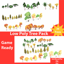 TreePack.png Download STL file Low poly Trees • 3D printing object, Nisanta