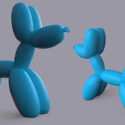 Dog_Balloon.png Download OBJ file Dog balloon / Balloon dog • 3D print design, jerem3D