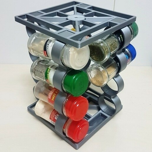 20201229_193512.jpg Download STL file Spice rack rotary spice rack • 3D printing design, Richars