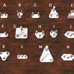 2.png Télécharger fichier STL Couvercle de prise de courant, tous types A, B, C, D, E, F, G, H, I, J, K, L, M, N • Plan imprimable en 3D, Shinkai3D