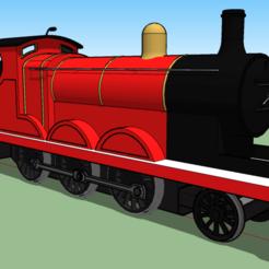 Download free STL file james the red engine • 3D print template, ajaylen