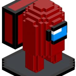 Among Us Portada.png Télécharger fichier OBJ Parmi nous Pixel Art 3D • Objet imprimable en 3D, Autumn_Worlds