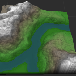 Río entre Montañas 1.PNG Download OBJ file Biome: River between Mountains • 3D print template, Autumn_Worlds