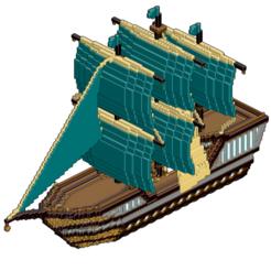Download OBJ file Minecraft: Noble Corsair • 3D printing model, Autumn_Worlds