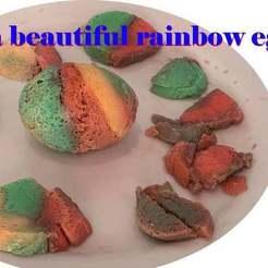 thumb.jpg Download free STL file Egg punch--Cook a beautiful rainbow egg -- life hack with egg • 3D printer design, zhhwang
