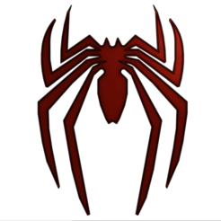 Captura de pantalla 2020-10-16 a la(s) 01.32.39.png Download STL file logo, spider man • Model to 3D print, RIHNOTECH3D