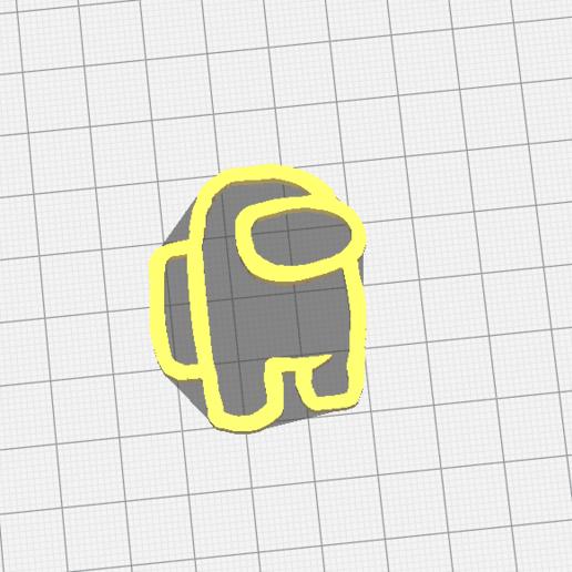 Download free STL file among us minimal keychain | minimal keychain • 3D printing template, 3DSINGS