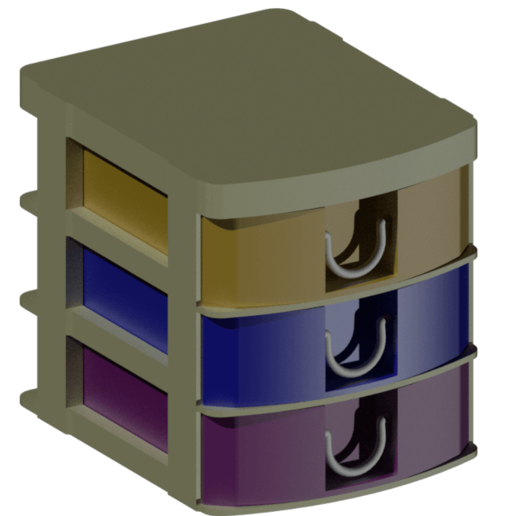 2.png Download STL file Stackable drawer • 3D printable model, IDEXECT