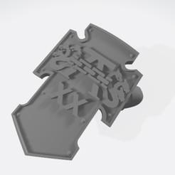 alpha shield_a.jpg Download free STL file 40k Alpha Legion Shield • 3D printer object, DanielKomi