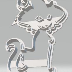 Download STL file Halloween - Cat • 3D printer object, sugarartoflincoln