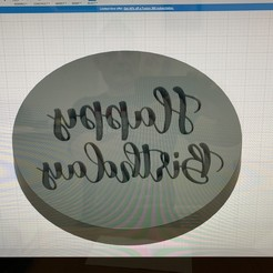 Download STL file Happy Birthday cookie embosser. • 3D printing object, sugarartoflincoln