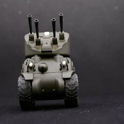 DSC_1635.JPG Download STL file world war toon Skink AA sherman for the M4A1 sherman • 3D printer template, kscalemodels