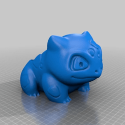 2.png Download free STL file Bulbasaur pot • 3D print model, Osichan