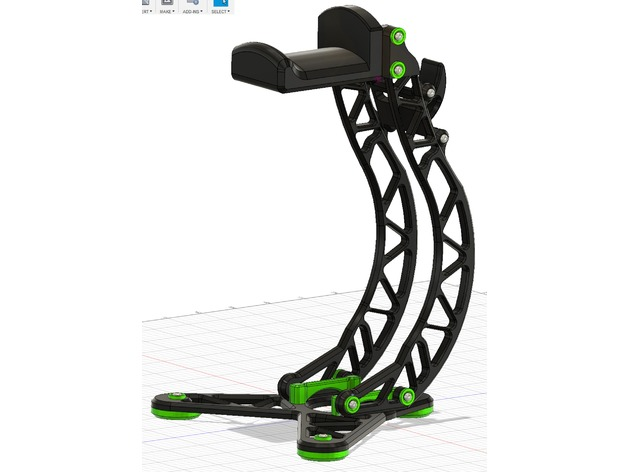 fin.png Download free STL file Headphone holder • 3D printable object, Osichan