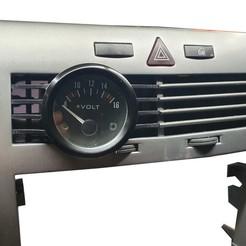 astra_h_kratka_zegary (3).jpg Download STL file ASTRA H AIR VENT GAUGE POD 52MM • 3D print design, dylimoc