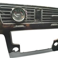 golf_vii_kratka_zegary (6).jpg Télécharger fichier STL Volkswagen Golf VII MK7 AIR VENT GAUGE POD 52MM • Design imprimable en 3D, dylimoc