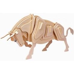 bull.jpg Télécharger fichier STL gratuit Puzzle Bull 3d • Modèle pour impression 3D, Puzzle3d124578