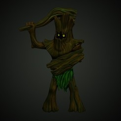 wood guardian.jpg Download STL file Wood Woad D&D miniature • 3D printable design, M_Dima