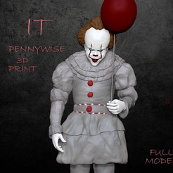 penn.jpg Download STL file Pennywise (IT) • 3D printing template, Shmel