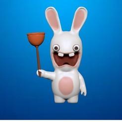 123.jpg Télécharger fichier STL Rayman, des lapins enragés. Lapin classique • Objet à imprimer en 3D, Shmel