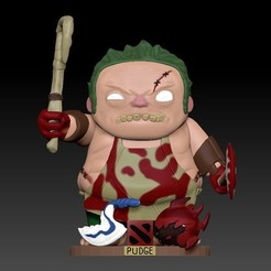 z1.jpg Download STL file Funko pop. Pudge(Dota 2). • 3D printing model, Shmel