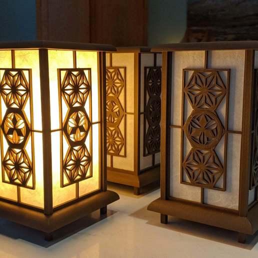 Download free STL file Kumiko Lamp • 3D print template, Aussiemandias