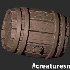 CreatureSmall_Barrel.jpg Télécharger fichier STL gratuit Baril • Plan imprimable en 3D, CreatureSmall