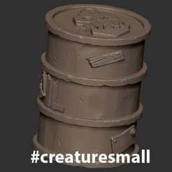 CreatureSmall_BarrelOrk02.jpg Download free STL file BarrelOrk • 3D print model, CreatureSmall