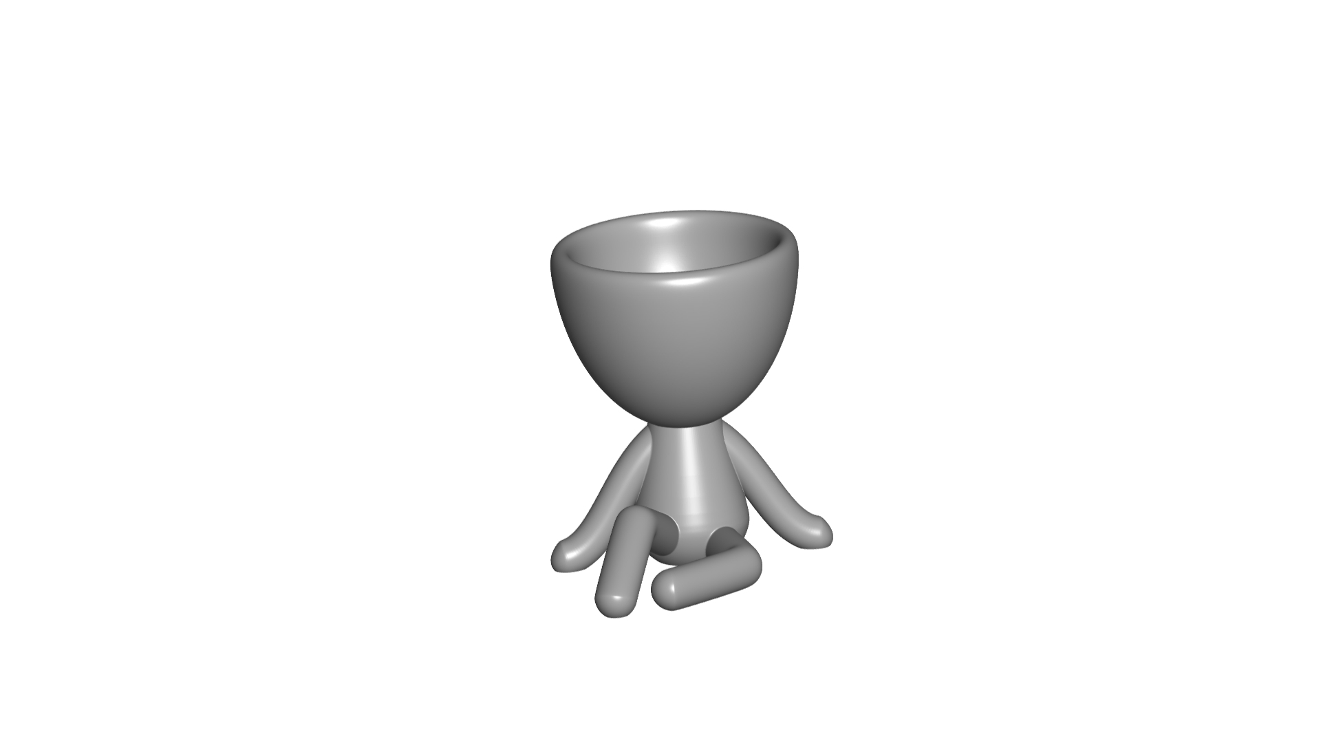 Vaso_1_Gris.jpg Download free STL file JARRÓN MACETA ROBERT 01 - VASE FLOWERPOT ROBERT 01 • 3D printable object, PRODUSTL56