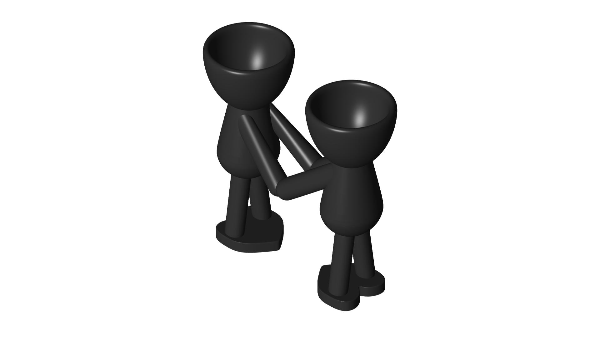 Enamorados_N5_Negro_1.png Download free STL file Maceta Florero Robert N° 5 VASE FLOWERPOT ROBERT IN LOVE • Object to 3D print, PRODUSTL56