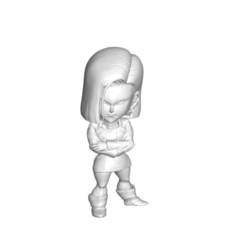 18_2.png Download free STL file FIGURA MINIATURA DE COLECCIÓN DRAGON BALL Z DBZ / MINIATURE COLLECTIBLE FIGURE DRAGON BALL Z DBZ ANDROID 18 • 3D print template, PRODUSTL56
