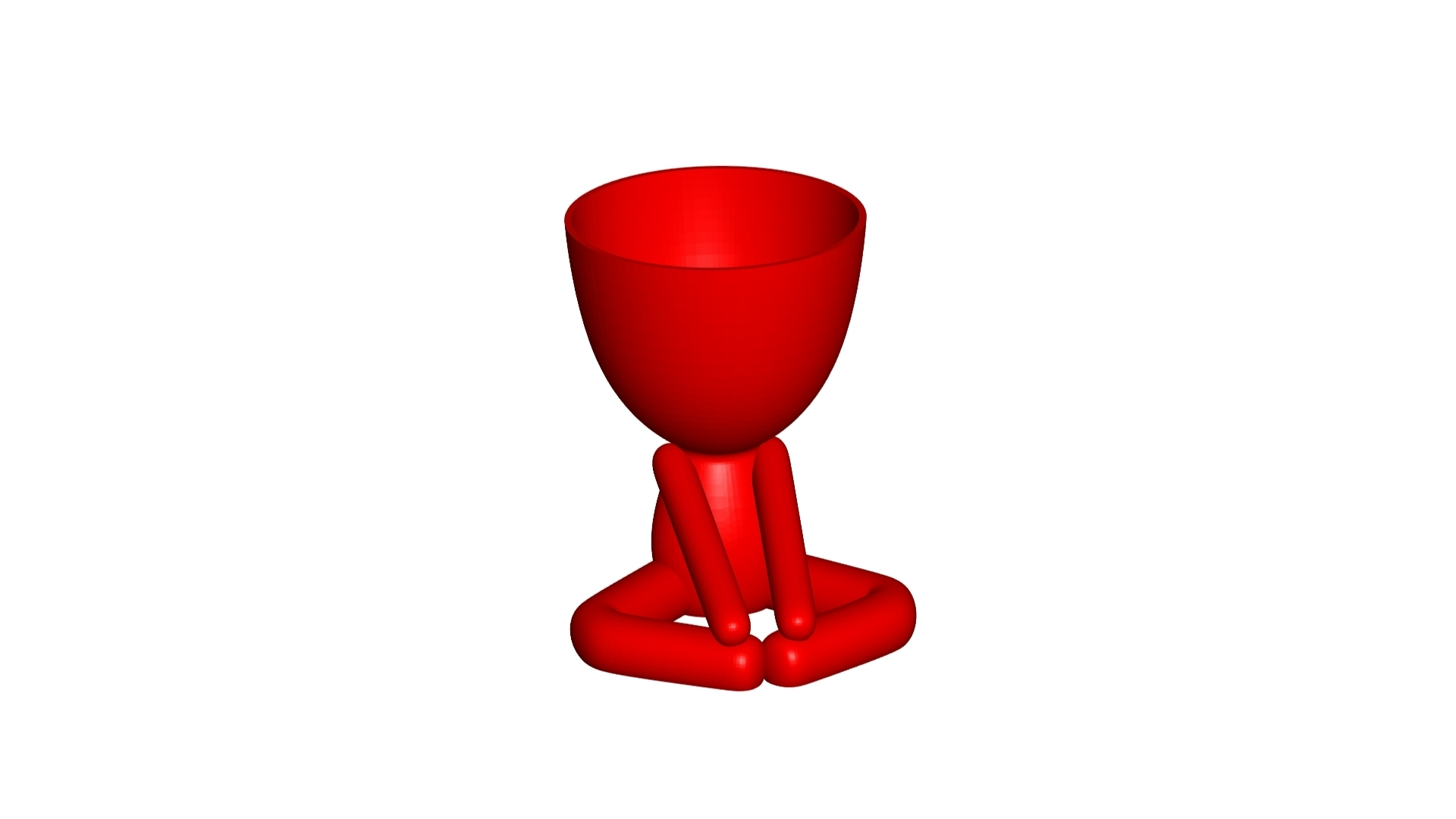 Vaso_12_Rojo_1.jpg Download free STL file YOGA ESTIRANDO JARRÓN MACETA ROBERT 12 -  YOGA STRETCHING VASE FLOWERPOT ROBERT 12 • Template to 3D print, PRODUSTL56
