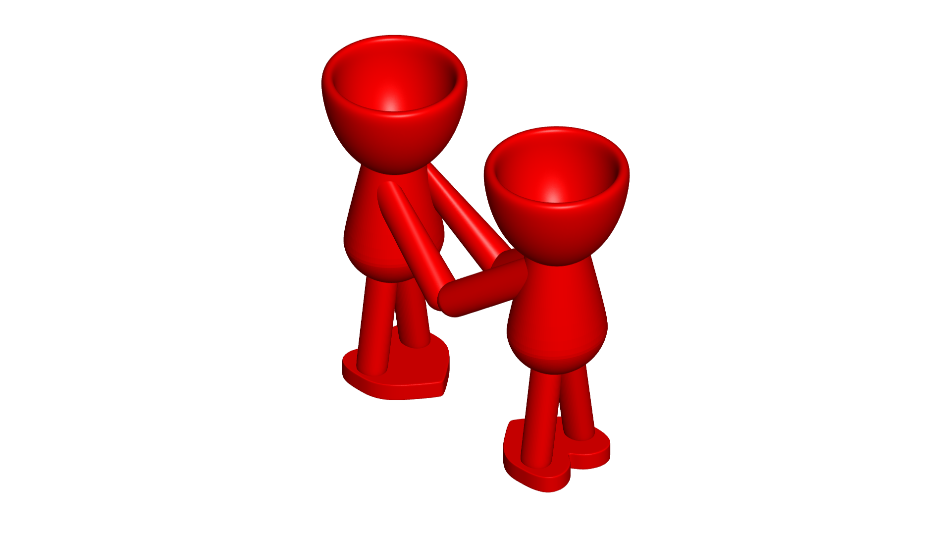 Enamorados_N5_Rojo_1.png Download free STL file Maceta Florero Robert N° 5 VASE FLOWERPOT ROBERT IN LOVE • Object to 3D print, PRODUSTL56